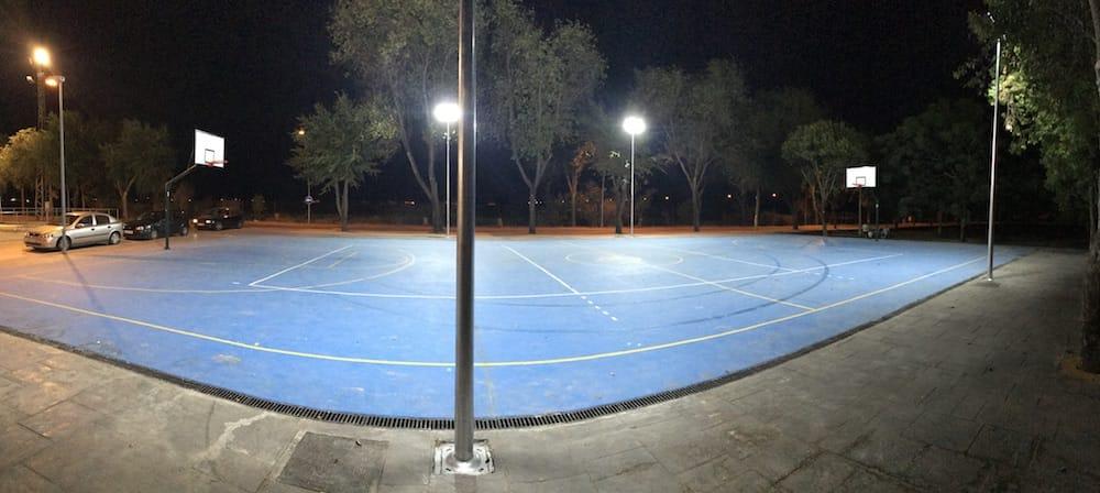 instalacion led pista exterior deportiva palma del rio